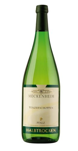 Winzerschoppen Weißwein QW halbtrocken Pfalz, 1Liter