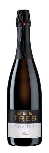 Sekt b.A. brut Spätburgunder und Chardonnay Crémant TRES Pfalz 2019